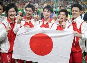 リオ五輪男子体操団体戦金メダル